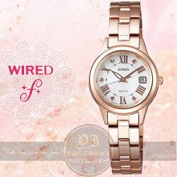 WIRED f日本原創Solar浪漫情懷太陽能腕錶V137-0CF0K/AGED709J公司貨