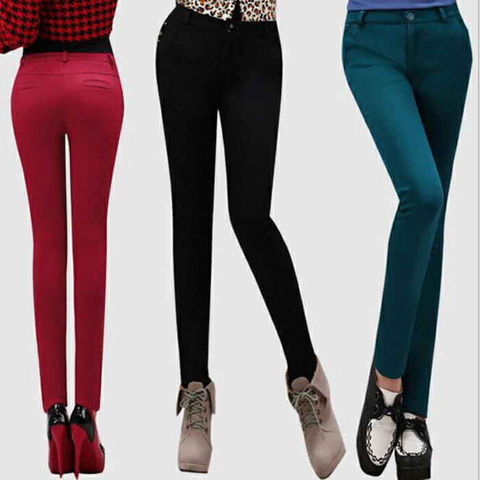 糖衣子流行館【PY158】韓版時尚個性黃金絨加厚顯瘦小腳褲(預購款10天)