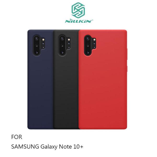 99免運 NILLKIN SAMSUNG Note 10+ 感系列液態矽膠殼 背殼 鏡頭增高 手機殼 保護套【愛瘋潮】