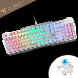 【狼派虛空風暴RGB背光版CIY電競機械式鍵盤-青軸(X06S)】CIY自由換軸104鍵全鍵無衝突專業遊戲電競芯片鍵盤【風雅小舖】