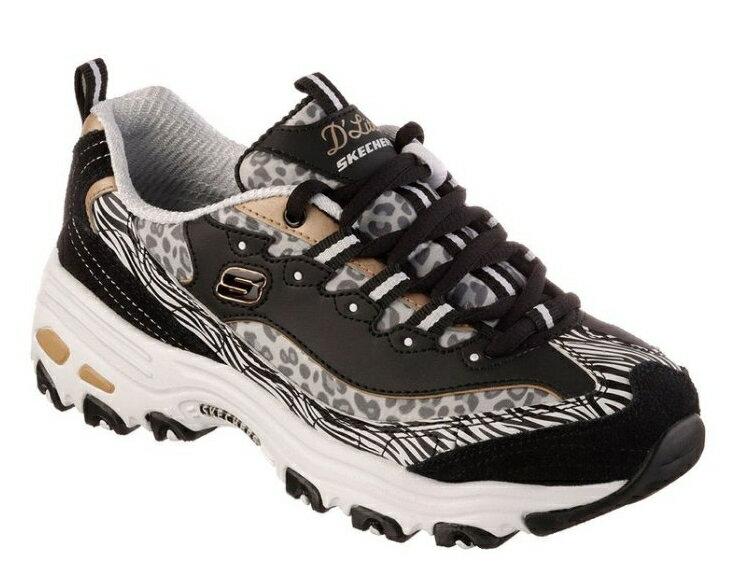(陽光樂活)SKECHERS (女) 運動系列D'Lites - 99999833BKGD在韓國引領潮流的熊貓鞋/黑豹系列來了