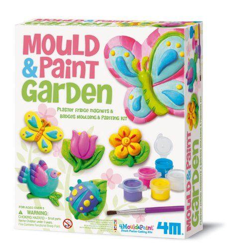 【4M 創意 DIY】Mould & Paint / Garden 蝴蝶花園 ( 磁鐵 )