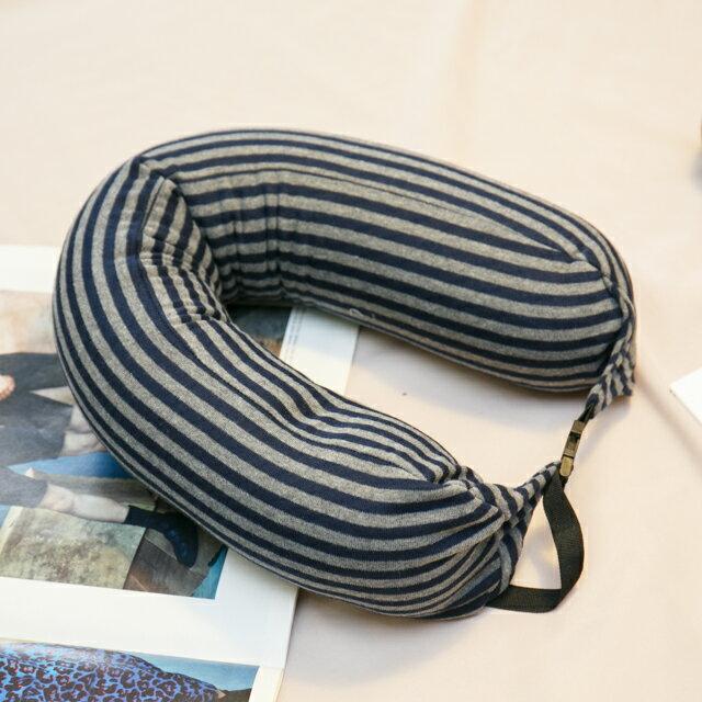 無印風格 線條頸枕(微粒) 紓壓/休息 便利實用 2色可選 3