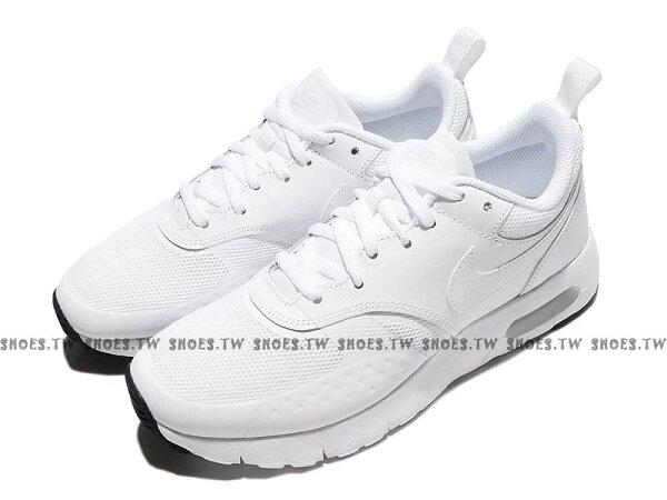 Shoestw【917857-100】NIKEAIRMAXVISION(GS)休閒鞋氣墊全白大童女生可穿