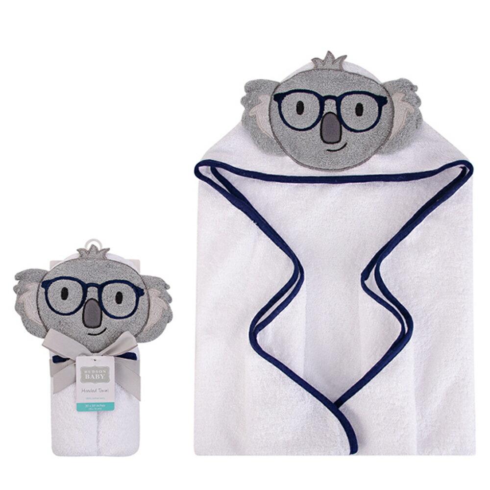 美國  luvable friends  100% 純棉嬰幼兒動物造型連帽浴巾/包巾_無尾熊先生 (LF00430)