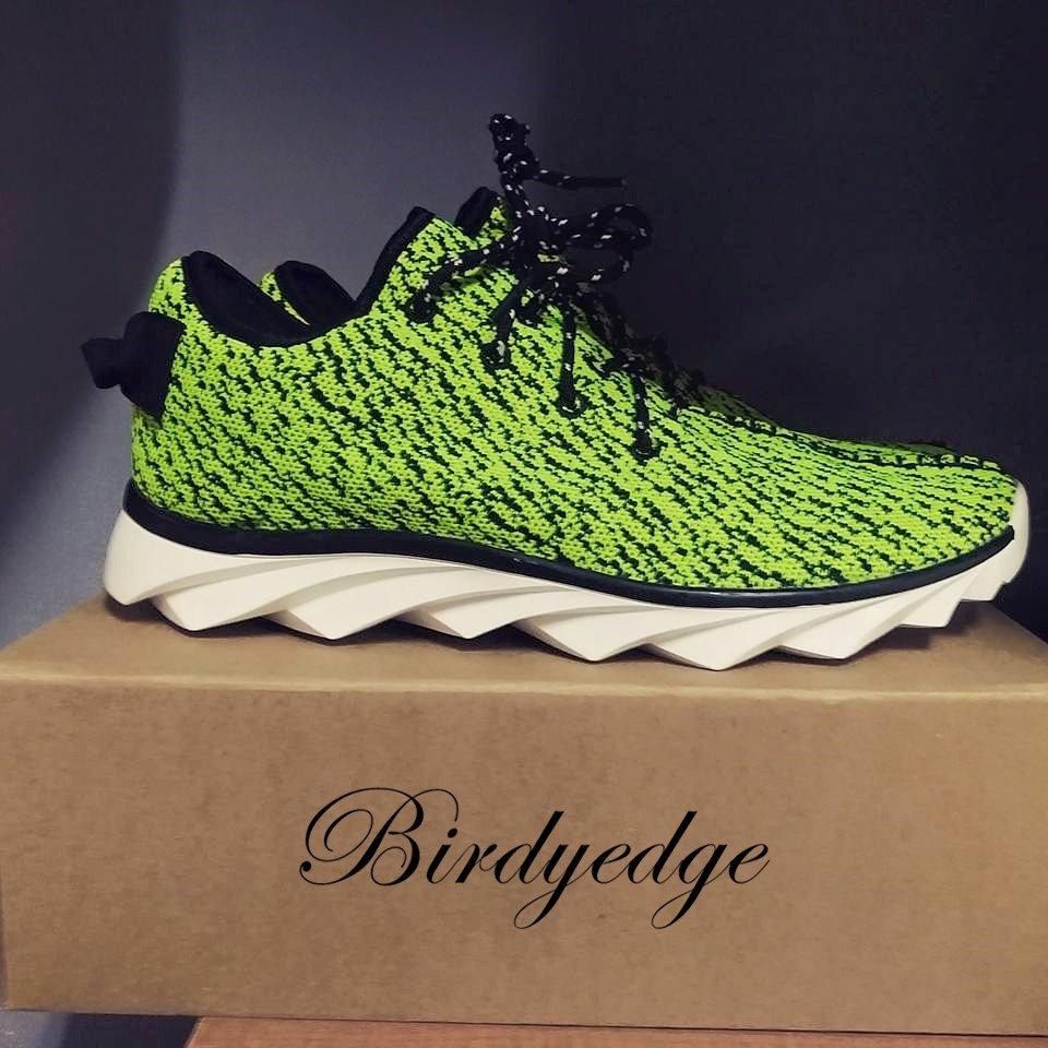 韓國 編織 鞋 綠 運動 鯊魚鞋款 跑鞋 高品質 非 ADIDAS 三葉草 勾YEZZY 350 y3 愛迪達 金標