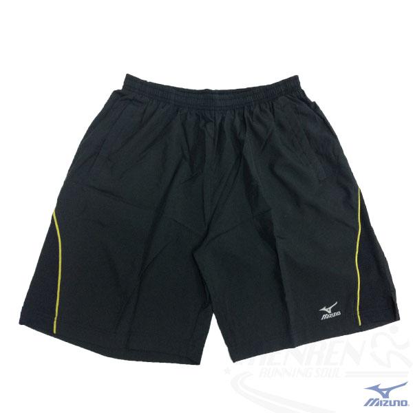 MIZUNO 美津濃 輕盈路跑褲(黑*黃) 側邊口袋 活動自如 單層無內裡