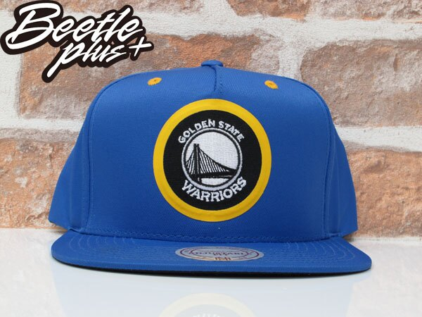 BEETLE NESS NBA WARRIORS 金州勇士 CURRY 藍黃 尼龍 SNAPBACK 棒球帽 總冠軍 MN-375