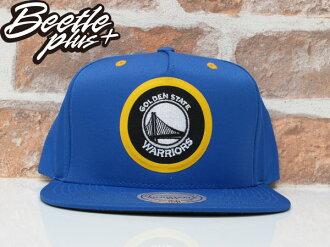BEETLE NESS NBA WARRIORS 金州勇士 CURRY 藍黃 尼龍 SNAPBACK 棒球帽 總冠軍 MN-375