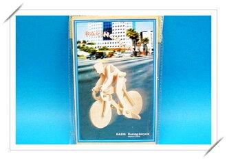 DIY木質拼圖 3D立體拼圖(HA-206自行車選手.小2片入)/一組入{促30}