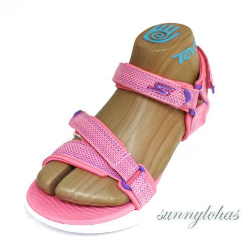 SKECHERS(童)ON-THE-GO600涼鞋魔鬼氈耐走-86965LCRL粉紫[陽光樂活]