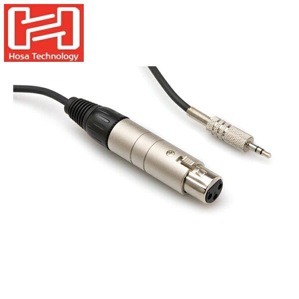 又敗家@美國Hosa麥克風轉接線MIT-156音訊線XLR轉3.5mm耳機頭XLR3F轉18接頭JACK頭TRS立體
