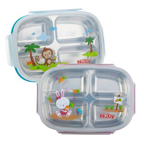 Nuby 不鏽鋼分格餐盒(顏色隨機出貨)★衛立兒生活館★ 0