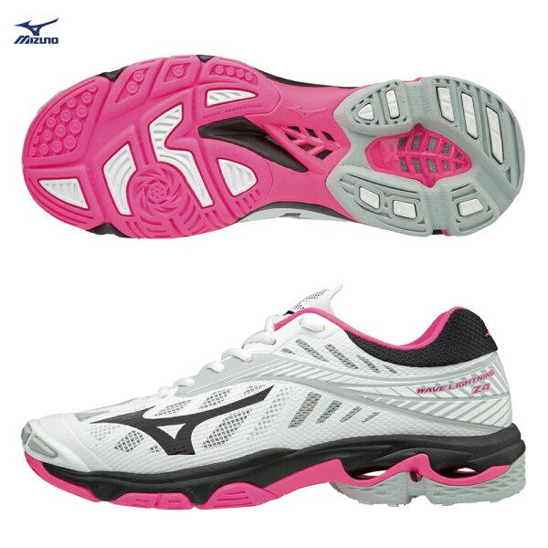 V1GC180064(白X黑X粉紅)WAVELIGHTNINGZ4女排球鞋【美津濃MIZUNO】