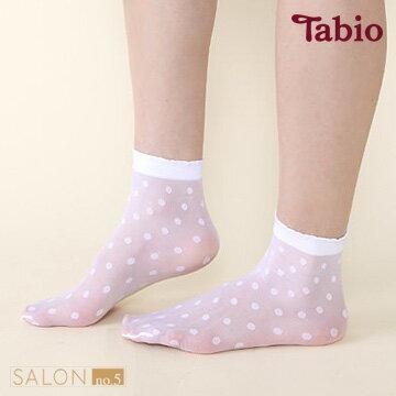 靴下屋Tabio 圓點透膚20D短襪/ 絲襪