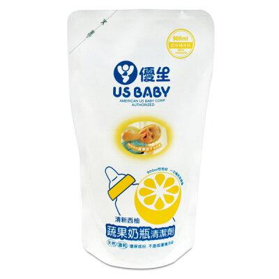 優生 蔬果奶瓶清潔劑補充包-西柚(900ml)