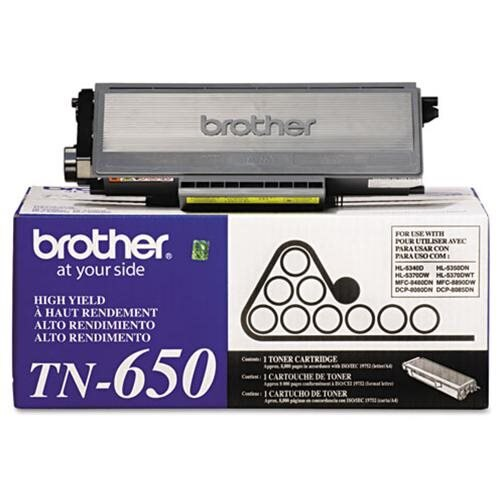 Brother TN-650 Toner Cartridge - New Cartridge 1