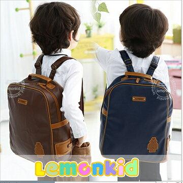 Lemonkid◆簡約時尚好質感仿皮革機器人幼稚園小學兒童書包雙肩包後背包