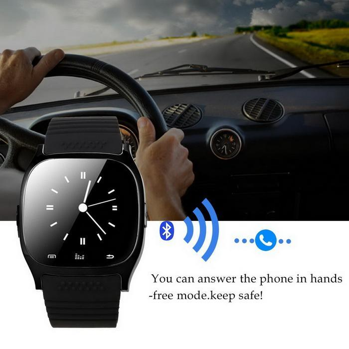 Bluetooth Smart Wrist Watch Phone Mate Touch Screen Support For Android IOS 4