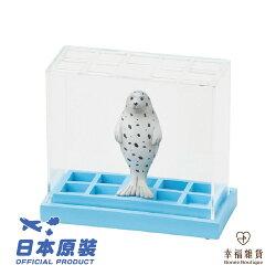 現貨 海豹筆筒 水族館系列 擬真動物 獨特透明設計款筆筒 擺飾景品筆筒 桌面療癒小物  日本Magnets動物造形透明壓克力筆筒 【Bonne Boutique幸福雜貨】