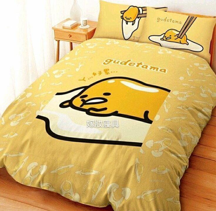 【嫁妝寢具】人氣王-蛋黃哥.雙人5×6.2床包組【床包+枕套*2】台灣製造 .3件式