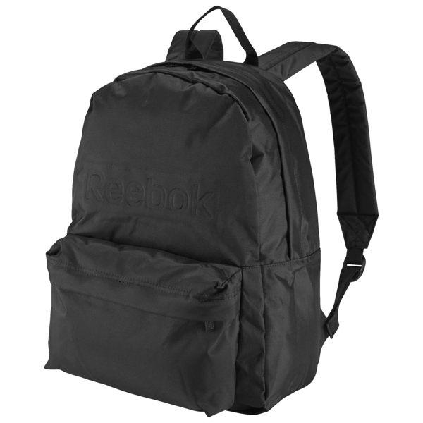REEBOK BACKPACK 後背包 雙肩 鋼印 尼龍 書包 學生 黑 【運動世界】 AJ6016