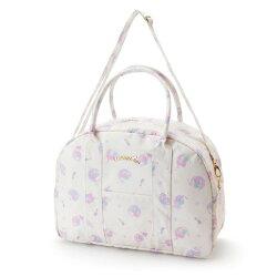 三麗鷗 雙子星 PVC 提背袋 收納袋 白色 星星 月亮 防潑水 日貨 正版 授權 L00010315
