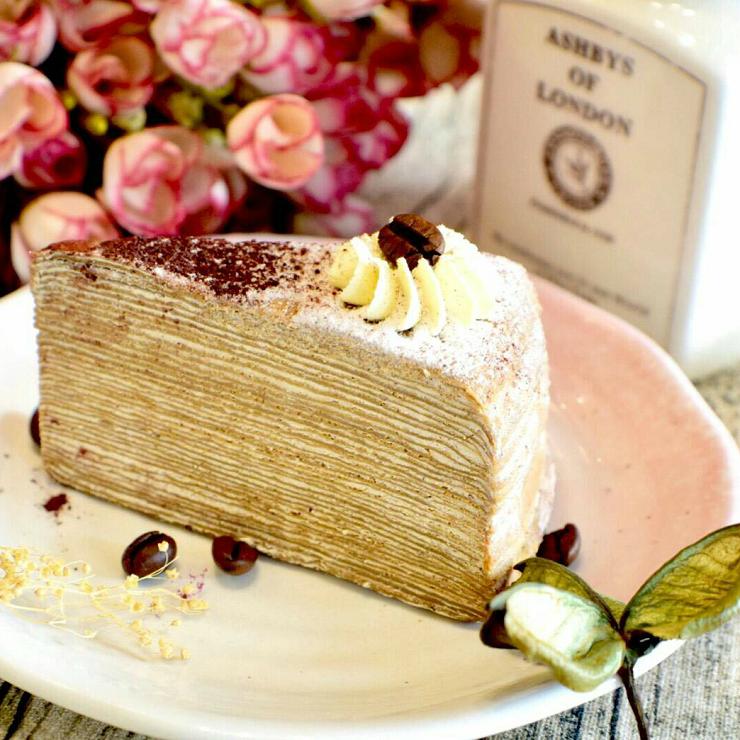 【女王千層法式手工甜點】卡布奇諾千層蛋糕 6吋