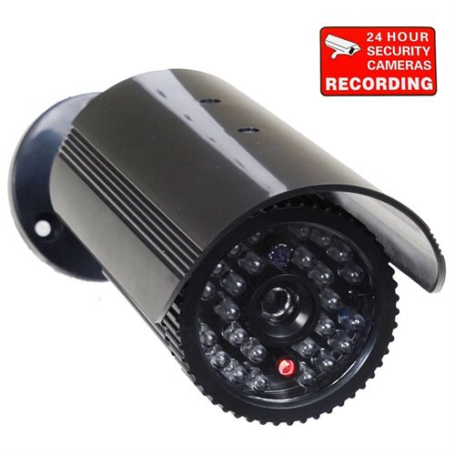 VideoSecu Bullet Dummy Imitation Fake IR LED Flashing Light CCTV Security  Camera FREE Decal 1PX