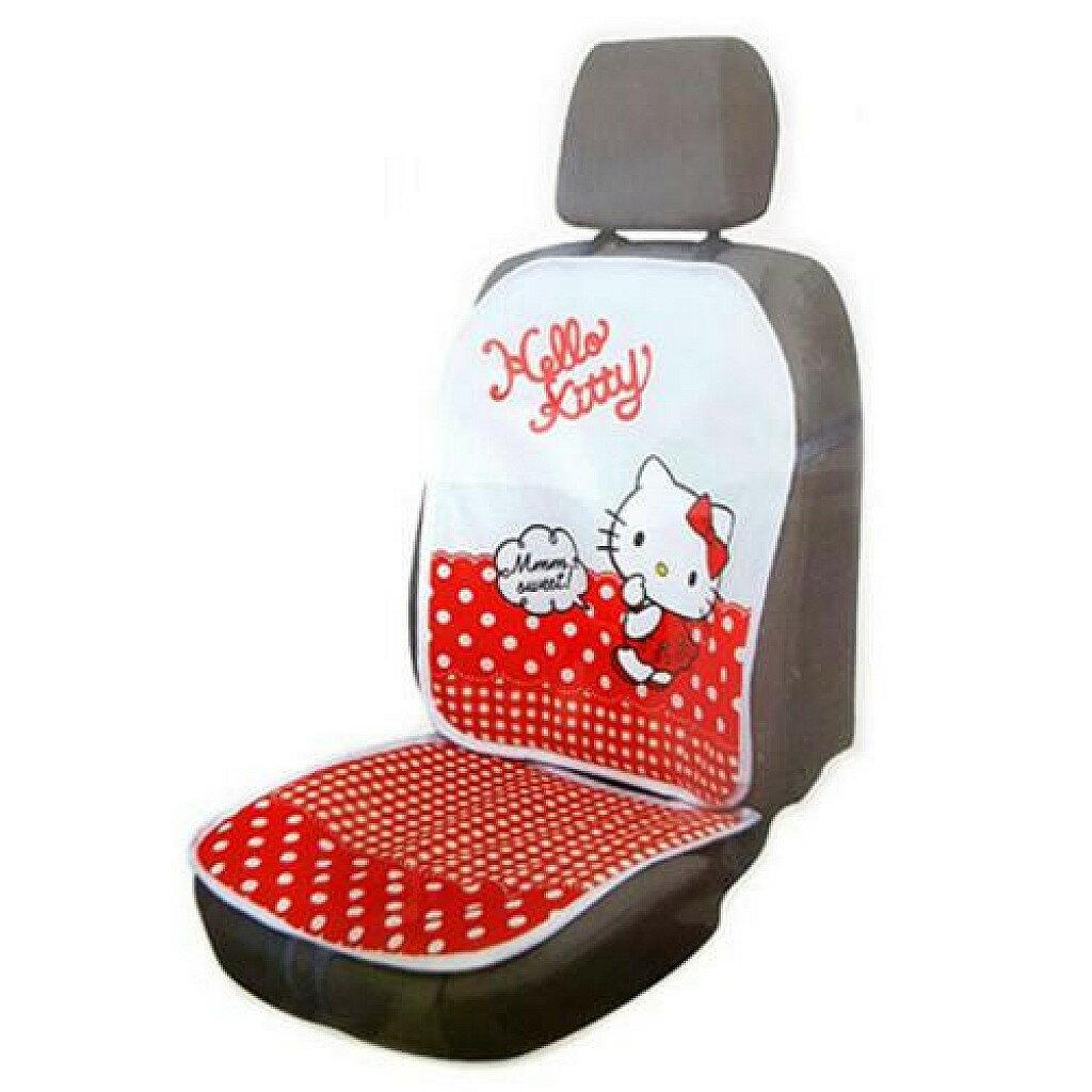 ~真愛 ~ 17072200030 透氣車用椅座墊組~KT點點紅 三麗鷗 kitty 凱蒂