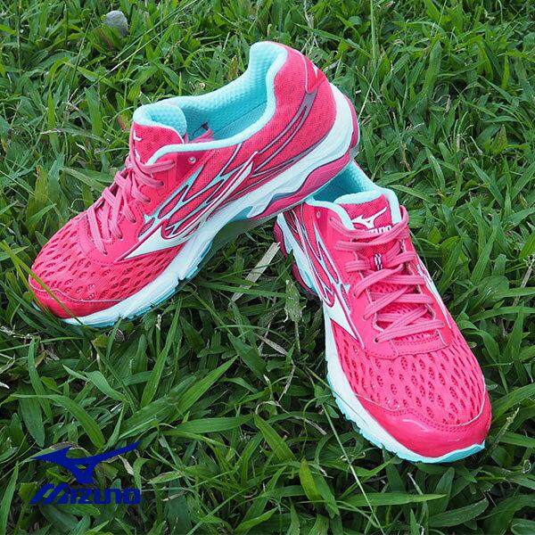 【MIZUNO促銷7折│全店免運】MIZUNO(女)WAVECATALYST2(W)女慢跑鞋紅-J1GD173302