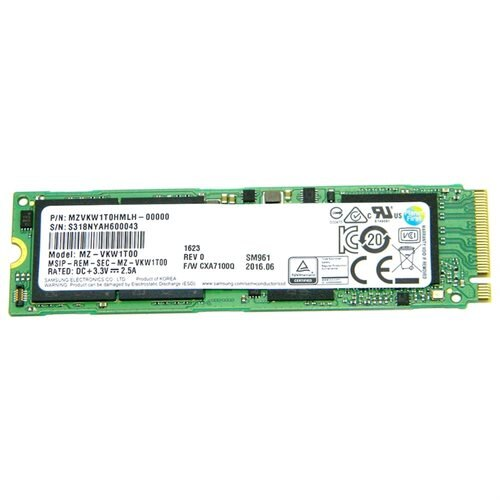 Samsung SM961 1TB SSD 1T M.2 2280 PCIe Gen3 x4 PCI-Express 3.0 x4 NVMe 80mm Internal Solid State Drive MZ-VKW1T00 0
