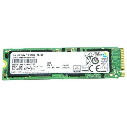 Samsung SM961 1TB SSD 1T M.2 2280 PCIe Gen3 x4 PCI-Express 3.0 x4 NVMe 80mm Internal Solid State Drive MZ-VKW1T00 0