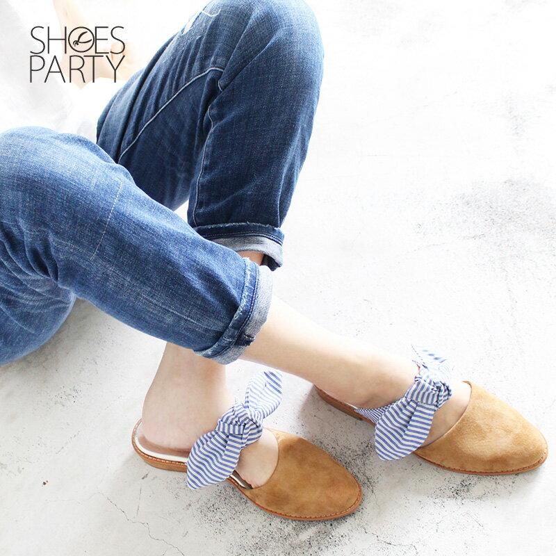 【S2-18609L】異素材蝴蝶穆勒鞋_Shoes Party 2