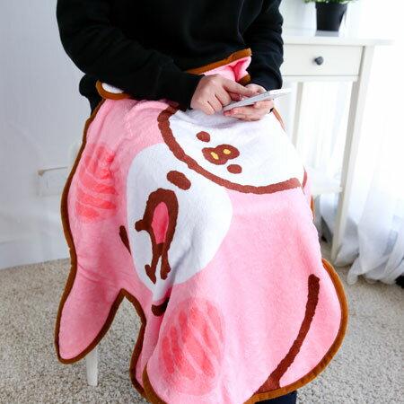 正版卡娜赫拉兔兔造型毛毯 刷毛毯 保暖被 毛毯 懶人毯 冷氣毯 毯子 被子 造型毯 毯被  P助 Kanahei【B062585】