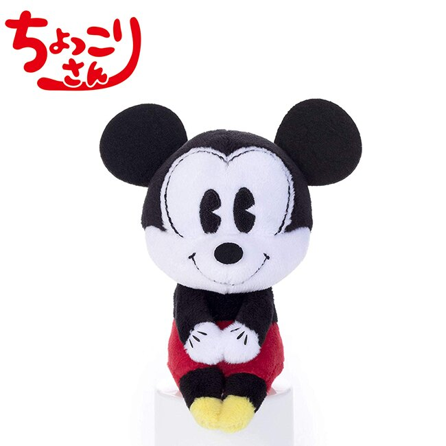 漫畫風款【日本正版】米奇 90周年紀念 排排坐玩偶 Chokkorisan 玩偶 拍照玩偶 Mickey 迪士尼 - 212970