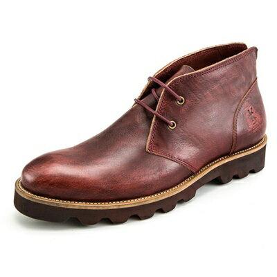 中筒靴真皮繫帶靴子-英倫復古擦色馬丁男靴3色73kk24【獨家進口】【米蘭精品】