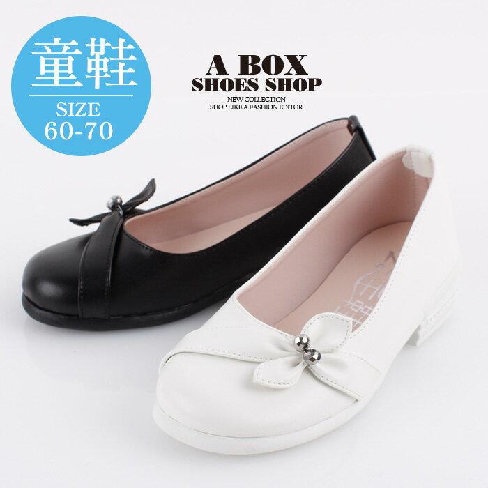 【AN8858】(童鞋60~70) 超可愛蝴蝶結 3CM粗低跟 圓頭包鞋 低跟鞋 娃娃鞋 2色