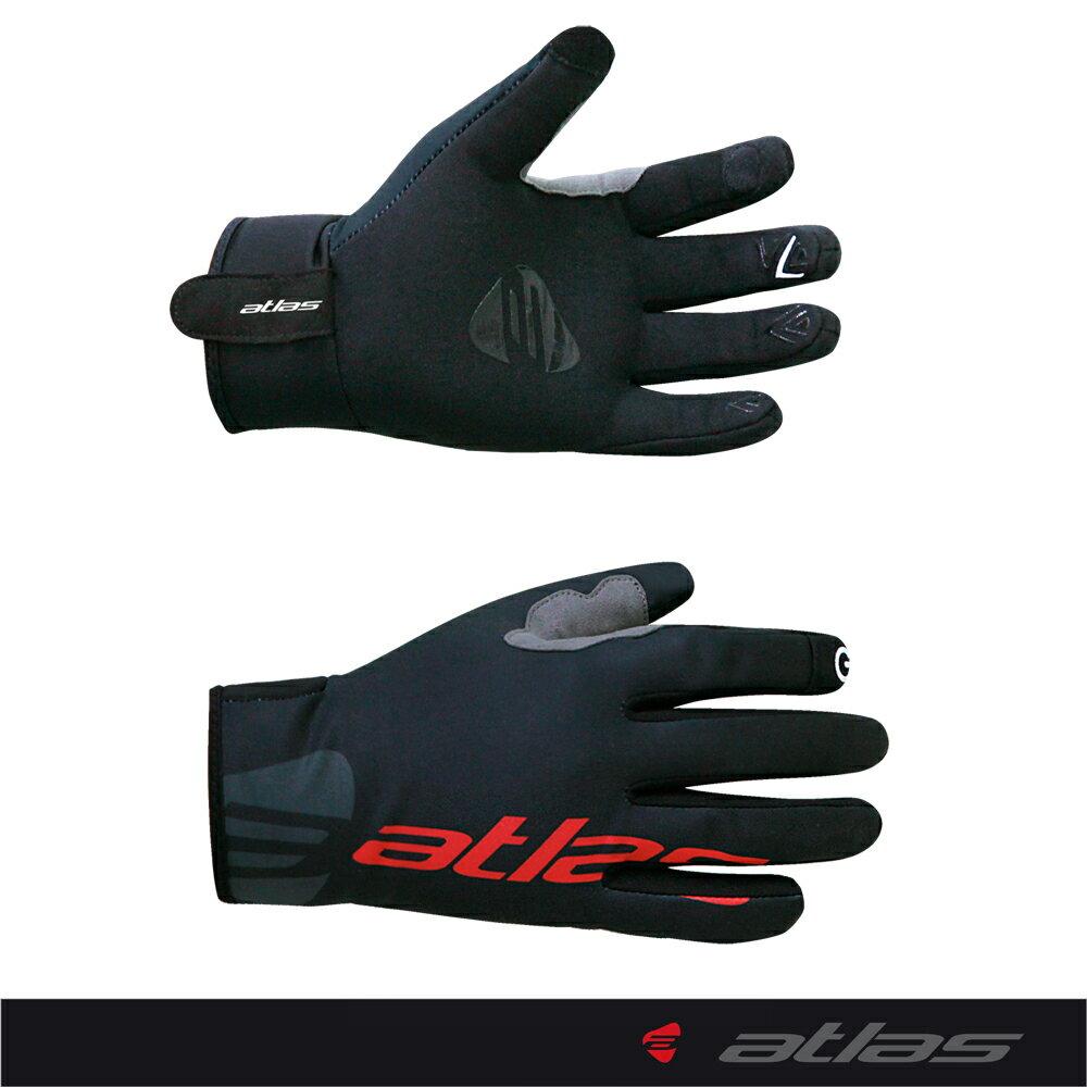 【亞特力士ATLAS】冬天防水長指觸控手套(黑) AG-505-B
