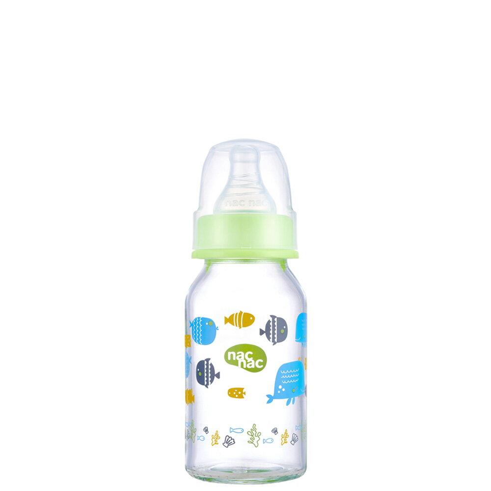 【麗嬰房】nac nac 吸吮力學標準耐熱玻璃奶瓶(120ml)