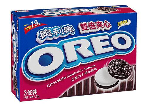 奧利奧OREO巧克力三明治餅乾-雙倍夾心457g【愛買】