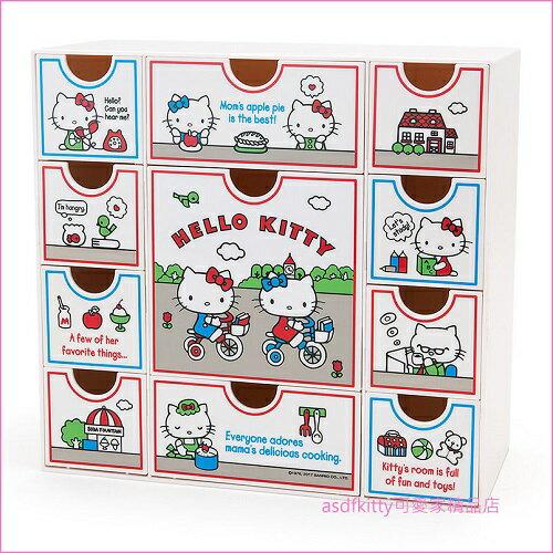 asdfkitty可愛家☆KITTY白色桌上型抽屜櫃/收納置物櫃-日本正版商品