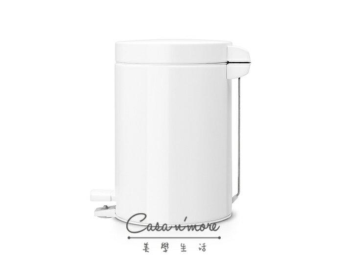 Brabantia 時尚垃圾桶 腳踏式垃圾桶 3L- 白色 (賓士鋼材) 比利時製造 2