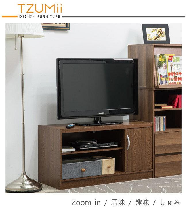 影視櫃/電視櫃/收納 TZUMii 日式簡約單門二格電視櫃