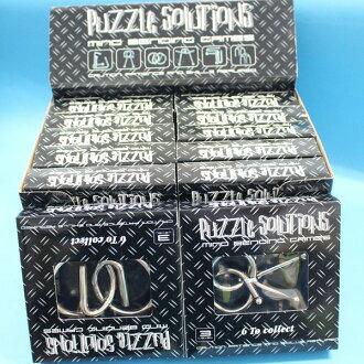 魔術道具 加粗白鐵智力環扣 智力鐵環(大黑盒/共有6款)一款入{促90}~5383