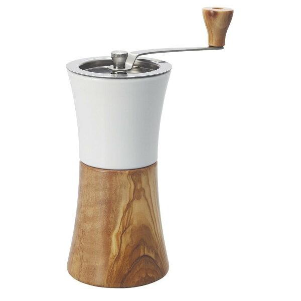 日本原裝HARIOMCW-2OV陶瓷刀橄欖木手搖式磨豆器陶瓷天然木可調整咖啡研磨粗細