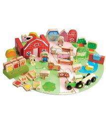 德國EverEarth環保系寶寶成長木玩 有機農場53件豪華組