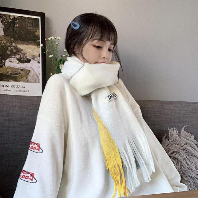 圍巾 女冬季ins少女日系韓版百搭英倫可愛小清新網紅款秋冬披肩