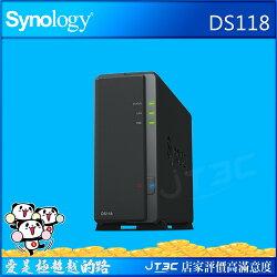 【滿千折100+最高回饋23%】Synology 群暉科技 DiskStation DS118 NAS (1Bay/Realtek/1GB) 網路儲存伺服器(不含硬碟)