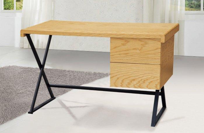 【尚品傢俱】JF-879-3 狀元4尺栓木本色二抽書桌
